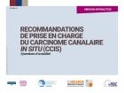 Guide de recommandations Carcinome canalaire in situ (CISS)